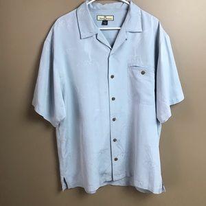 Tommy Bahama Large 100% Silk Short Sleeve Shirt